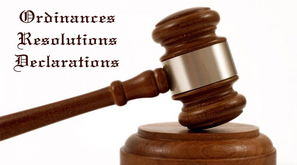 Bonney, Texas Ordinances, Resolutions, and Declarations